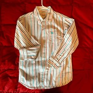 Boys large striped button down dress shirt